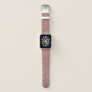 Bracelet Apple Watch Maille fascinante Girly de feuille d'or et de