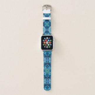 Bracelet Apple Watch Mandala bleu 2