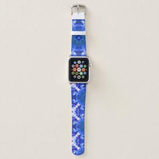 Bracelet Apple Watch mandala d'étoile bleue