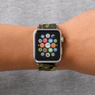 Bracelet Apple Watch Militaires Camo de vert de mousse