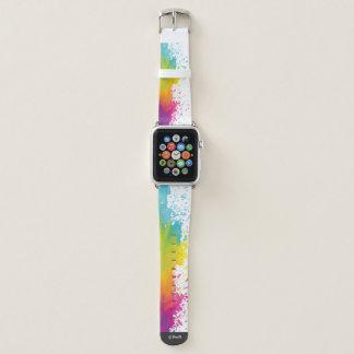 Bracelet Apple Watch Monogramme. Abrégé sur moderne art. aquarelle