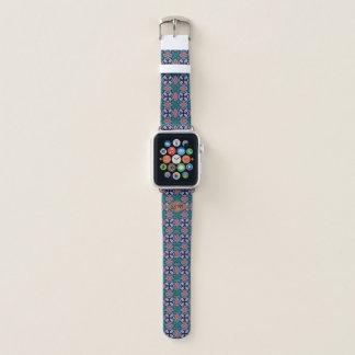 Bracelet Apple Watch Monogramme de coutume de motif de fractale de