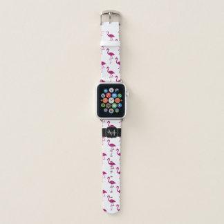 Bracelet Apple Watch Monogramme scintillant d'étincelles de parties
