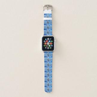 Bracelet Apple Watch Montre bleu-clair à la mode de bateau à voile du