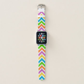 Bracelet Apple Watch Motif coloré de Chevron