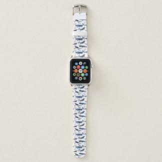 Bracelet Apple Watch Motif de baleine et d'ancre d'aquarelle