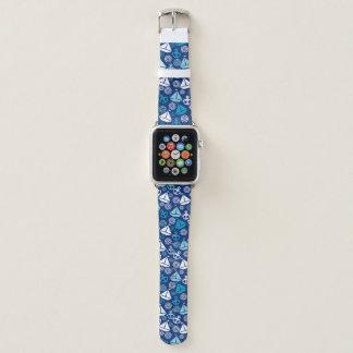 Bracelet Apple Watch Motif de bande dessinée avec des voiliers