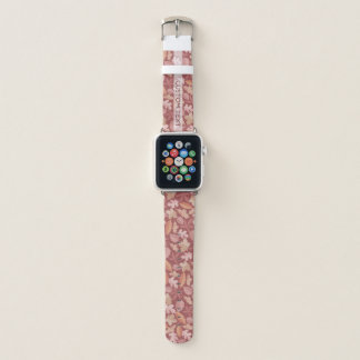 Bracelet Apple Watch Motif de feuille de Marsala