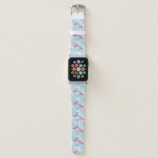 Bracelet Apple Watch Motif de flamant