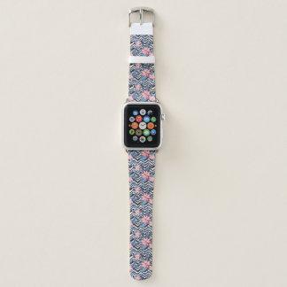 Bracelet Apple Watch Motif de fleur tropical de Lotus