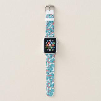 Bracelet Apple Watch Motif de fleurs coloré de ressort