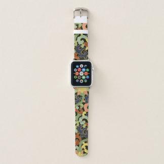 Bracelet Apple Watch Motif de fleurs stylisé d'iris
