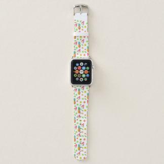 Bracelet Apple Watch Motif de fruit glacé d'aquarelle