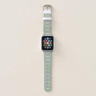 Bracelet Apple Watch Motif de mosaïque tribal de vert turquoise orange