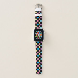 Bracelet Apple Watch Motif de point mou mignon coloré de polka de