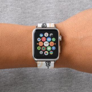 Bracelet Apple Watch Motif de radio de guitare de musique une bande de