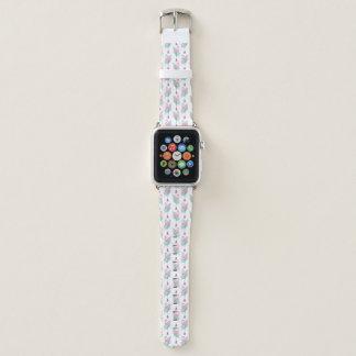Bracelet Apple Watch Motif en pastel de flamant et de pastèque