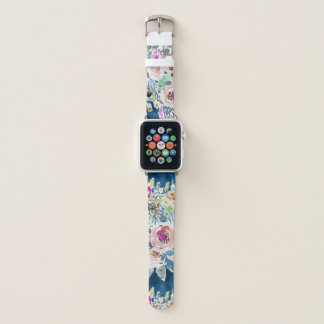 Bracelet Apple Watch Motif floral de Boho de marine colorée TELLEMENT
