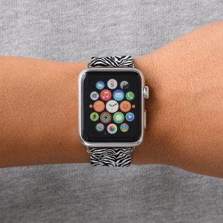 Bracelet Apple Watch Motif génial blanc noir Artsy d'impression de