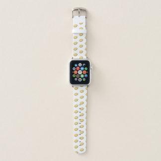 Bracelet Apple Watch Motif Girly de lèvres de feuille d'or de Faux