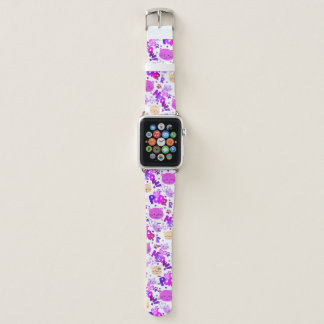 Bracelet Apple Watch Motif mignon de chats de bande dessinée