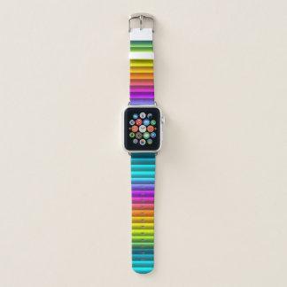 Bracelet Apple Watch Motif moderne génial de rayures d'arc-en-ciel