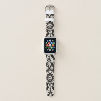 Bracelet Apple Watch Motif noir et blanc de bande de montre d'Apple