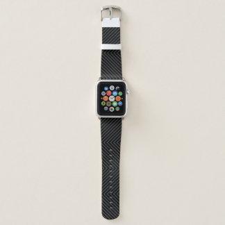 Bracelet Apple Watch Motif noir et gris de Chevron