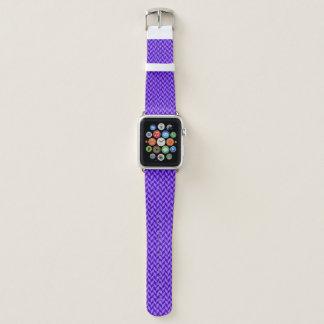 Bracelet Apple Watch Motif pourpre de chevron
