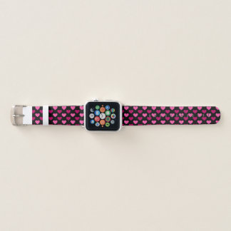 Bracelet Apple Watch Motif rose de coeur