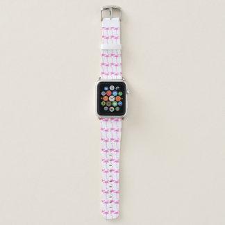 Bracelet Apple Watch Motif rose de flamant