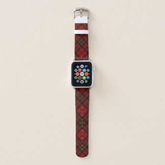 Bracelet Apple Watch Motif rouge adorable de tartan de Noël