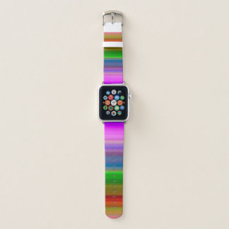 Bracelet Apple Watch Multi rayé de crayon coloré