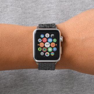 Bracelet Apple Watch Noir de reptile