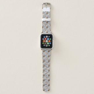 Bracelet Apple Watch Noix de coco sur le motif grunge de rayures