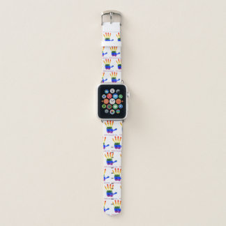 Bracelet Apple Watch Nous bande de montre de R1 (main d'arc-en-ciel)