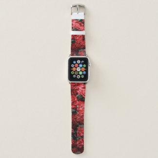 Bracelet Apple Watch Oeillets roses et rouges/bande de montre