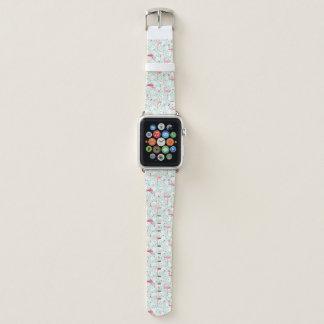 Bracelet Apple Watch Oiseau de flamant avec des plumes