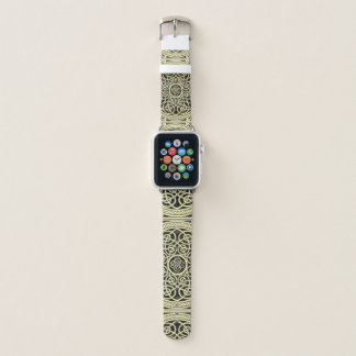 Bracelet Apple Watch Or et mandala celtique de noeud de noir