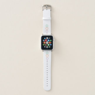 Bracelet Apple Watch Paix, amour et vin