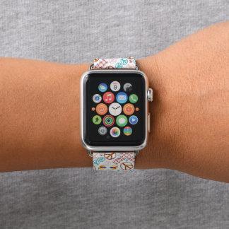 Bracelet Apple Watch Paix et puissance de personnes par Aleta