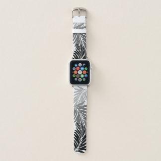 Bracelet Apple Watch Palmettes hawaïennes de paumes de Kahanu - gris