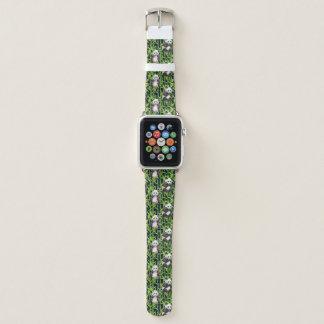 Bracelet Apple Watch Panda avec le motif en bambou d'aquarelle