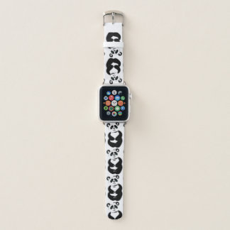 Bracelet Apple Watch Pandas affectueux