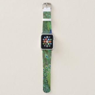 Bracelet Apple Watch Paon vert-bleu