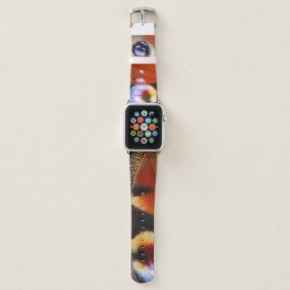 Bracelet Apple Watch papillon de paon