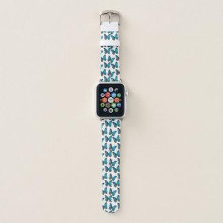 Bracelet Apple Watch Papillon tropical de gemme de bleu et de turquoise