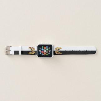 Bracelet Apple Watch Papillons colorés incrustés de bijoux et rayure