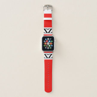 Bracelet Apple Watch Par la montre rouge de pomme de temps d'Eddie