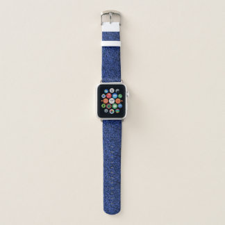 Bracelet Apple Watch Parties scintillantes bleues élégantes